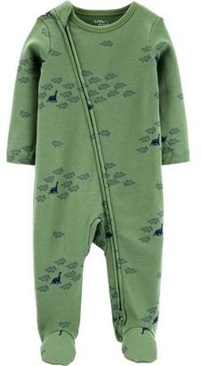 Little Planet Organic by Carter's Baby Boy Interlock Cotton Zip Up Sleep 'N Play Pajamas