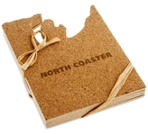 "Thirstystone Coast""er Cork Coasters, Set of 4"