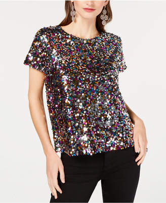 INC International Concepts Inc Sequined T-Shirt