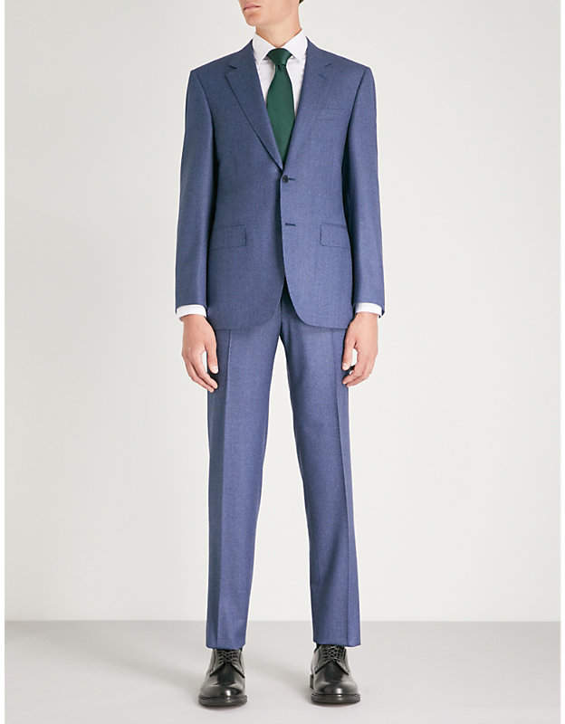 Canali Puppytooth slim-fit wool suit