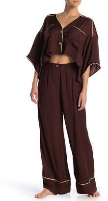 Free People Shine Crop Top & Pants Pajama 2-Piece Set