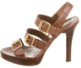 Michael Kors Embossed Platform Sandals