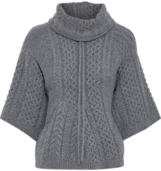 Stella McCartney Cable-knit Wool And Alpaca-blend Turtleneck Sweater