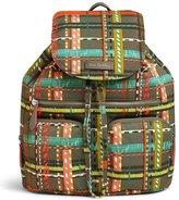 Vera Bradley Midtown Plaid Drawstring Cargo Backpack
