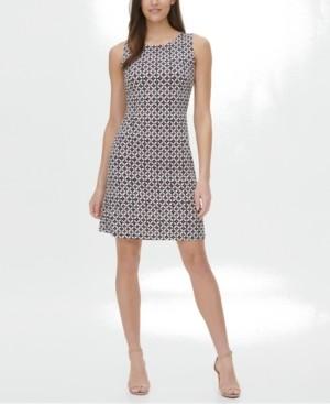 Tommy Hilfiger Petite Geo-Print Dress