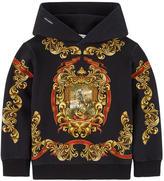 Dolce & Gabbana Zip hoodie with Sicilian badge print