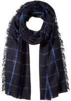 Lauren Ralph Lauren Windowpane Mohair Blanket Wrap Scarves