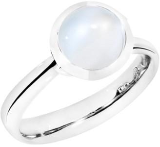 Tamara Comolli Bouton 18K White Gold & Sand Moonstone Small Ring