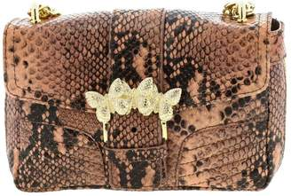 Twin-Set Twinset Twin Set Mini Bag Shoulder Bag In Python-print Leather With Butterflies