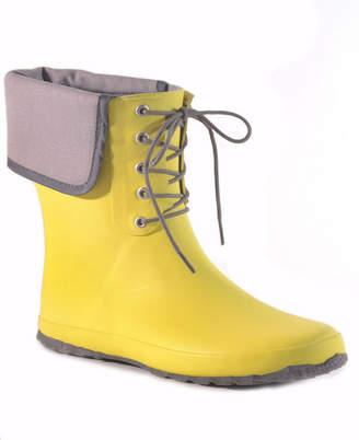 dav Coachella Canvas Waterproof Women Ankle-Height Rain Boot Women Shoes