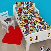 Marvel Comics Justice Junior/Toddler Duvet Cover Set + Free Small Foil Stickers