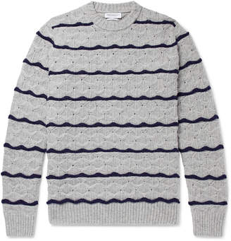 President's Wave Striped Wool Sweater