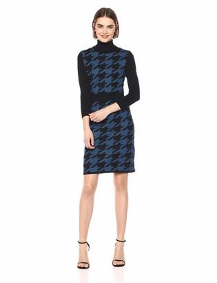Anne Klein Women's Mock Neck Sheath Sweater Dress