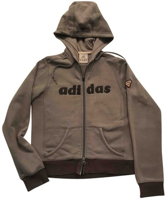adidas Grey Cotton Jacket for Women