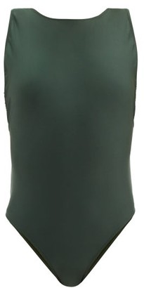 Adriana Degreas Low-back Cutout Swimsuit - Dark Green