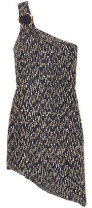 HANEY Ophelia One-shoulder Fil Coupe Chiffon Mini Dress