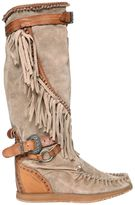 EL VAQUERO 70mm Silverstone Fringed Wedged Boots