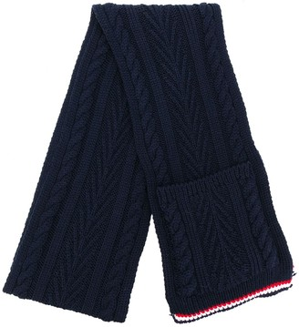 Thom Browne Cable-Knit Pocket Scarf