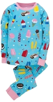 Hatley Girl's Icy Treats Long Sleeve Overall Print Pajama Set