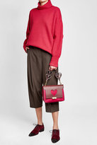 Anya Hindmarch Bathurst Heart Extra Small Suede Shoulder Bag with Leather