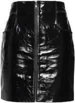 Maje Patent-Leather Mini Skirt