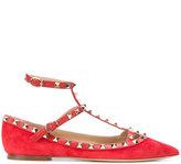 Valentino Garavani Valentino Rolling ballerina shoes - women - Leather/Suede - 35