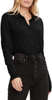 Michael Stars Harley Knit Shirting Blouse