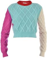 Fausto Puglisi Wool Cropped Sweater