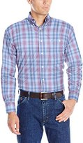 Wrangler Men's George Strait One-Pocket Long-Sleeve Blue Woven Shirt