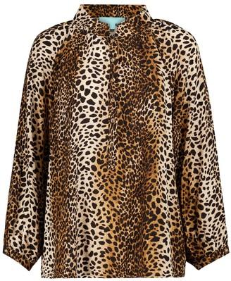 Melissa Odabash Lauri cheetah-print blouse