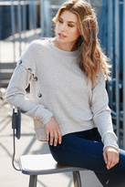 Red Haute Button Side Sweater