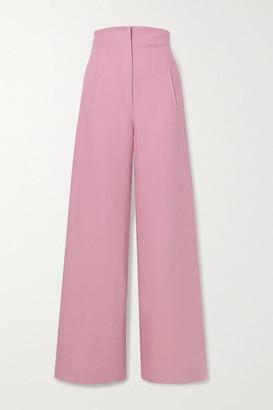 ANNA MASON Beau Linen Wide-leg Pants - Blush