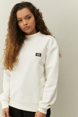 Dickies Bardwell Mock Neck Sweatshirt - White XS at Urban Outfitters