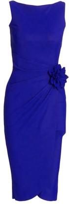 Chiara Boni Glenaly 3-D Flower Cocktail Dress