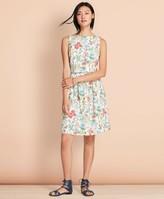 Brooks Brothers Botanical-Print Stretch Cotton Poplin Three-in-One Dress