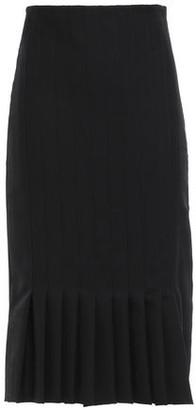 Haider Ackermann Pleated Grain De Poudre Wool Pencil Skirt