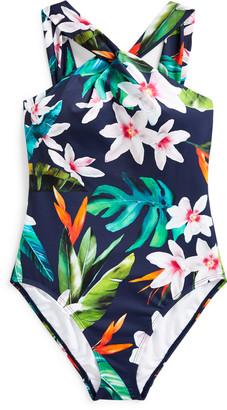 Ralph Lauren Tropical High-Neck One-Piece