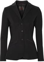 Cavalleria Toscana Faux Suede-trimmed Tech-jersey Blazer - Black
