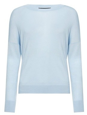 Dorothy Perkins Womens Pale Blue Crew Neck Jumper, Blue