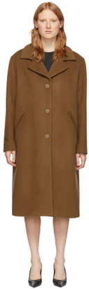 McQ Brown Wool Casual Welt Coat