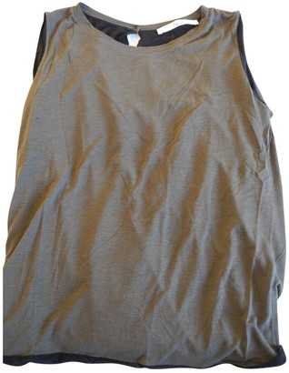 Jucca Khaki Cotton Top for Women