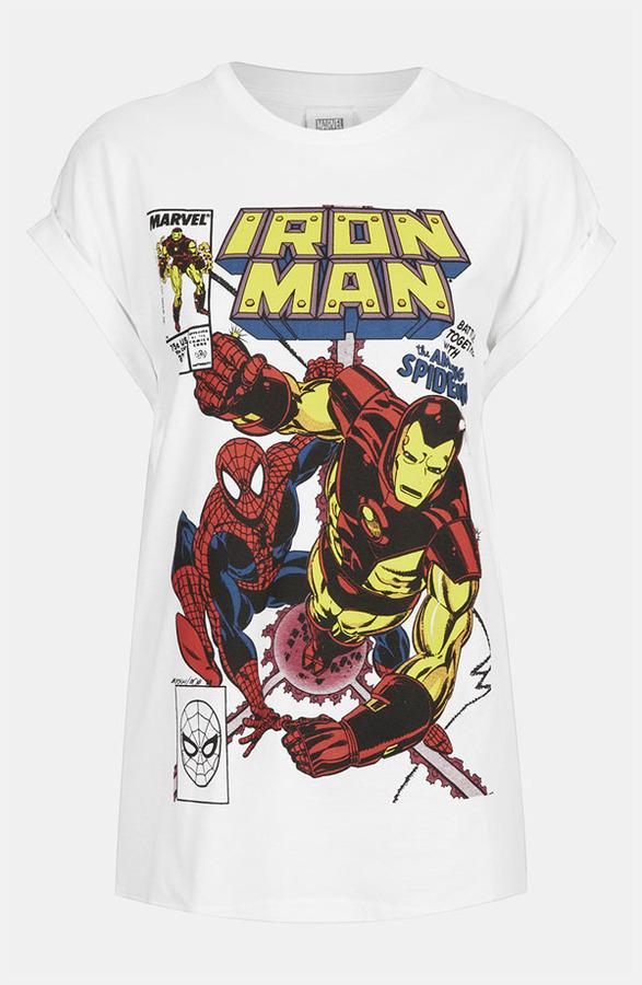 Topshop 'Iron Man' Graphic Tee