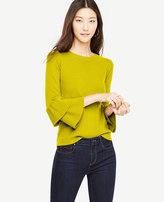 Ann Taylor Petite Ruffle Sleeve Sweater