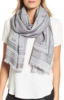 Ted Baker Bow Jacquard Wool & Silk Scarf