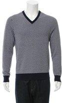 Michael Kors Patterned V-Neck Sweater