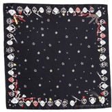 Alexander McQueen Women's Party Skull Silk Square Scarf