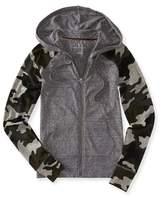 Aeropostale Womens Camo Hoodie Sweatshirt Xs