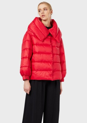 Emporio Armani Quilted Jacket In Lightweight Nylon