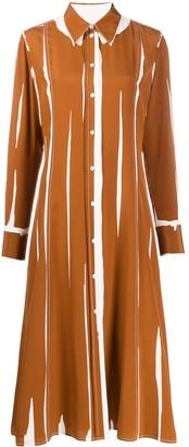 Paul Smith Printed Crepe De Chine Shirt Dress