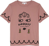Burberry Fiona face print cotton T-shirt 4-14 years